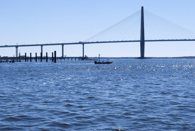 Ponte di junior di Ravenel sopra il bottaio River fotografie stock