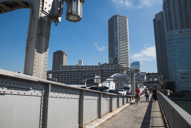 : ponte di kachidoki sopra il fiume di sumida a Tokyo Giappone fotografie stock libere da diritti