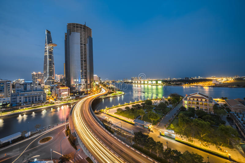 Ponte di Khanh Hoi immagini stock