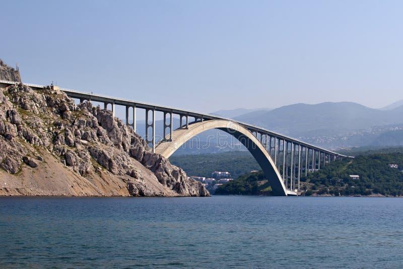 Ponte di Krk fotografia stock libera da diritti