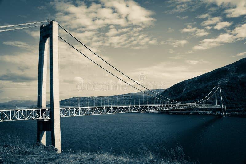 Ponte di Kvalsund fotografie stock