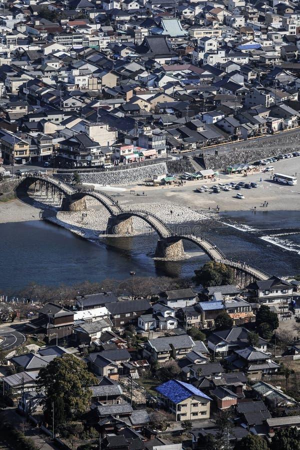 Ponte di kyo di Kintai a piena vista fotografia stock