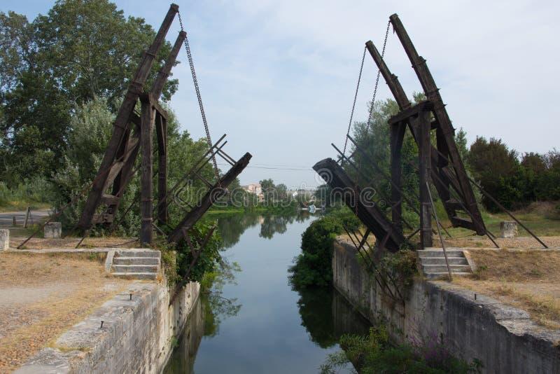 Ponte di Langlois in Arles, Francia fotografia stock