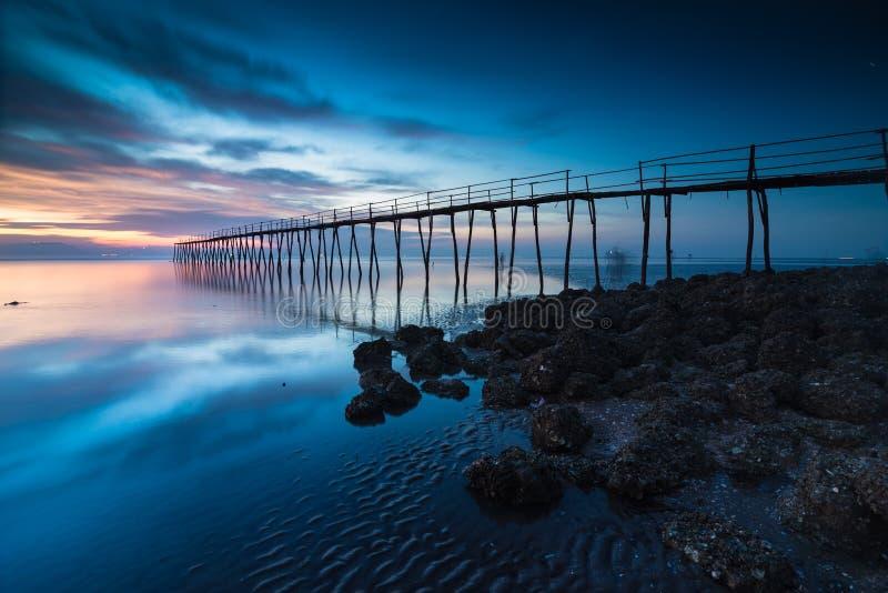 Ponte di legno fotografie stock
