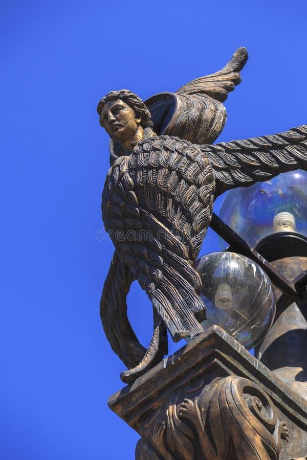 Ponte di libertà a Skopje fotografia stock libera da diritti