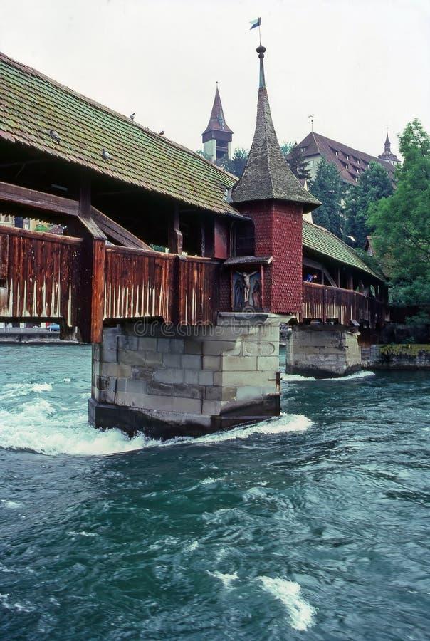 Ponte di Lucerna, Svizzera immagini stock
