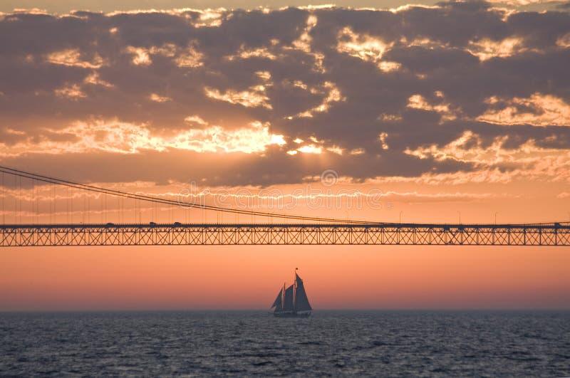 Ponte di Mackinac immagine stock libera da diritti