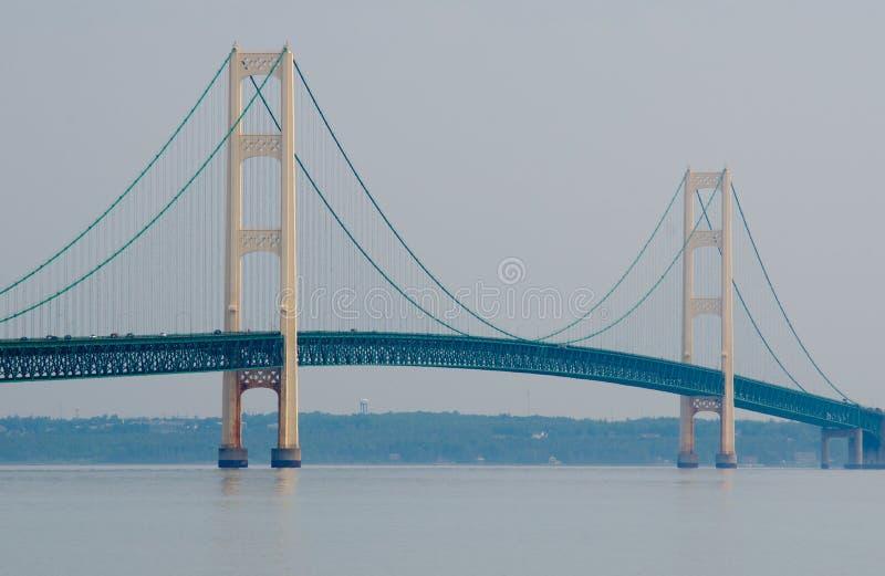 Ponte di Mackinac, città di Mackinaw, Michigan, U.S.A. immagini stock libere da diritti