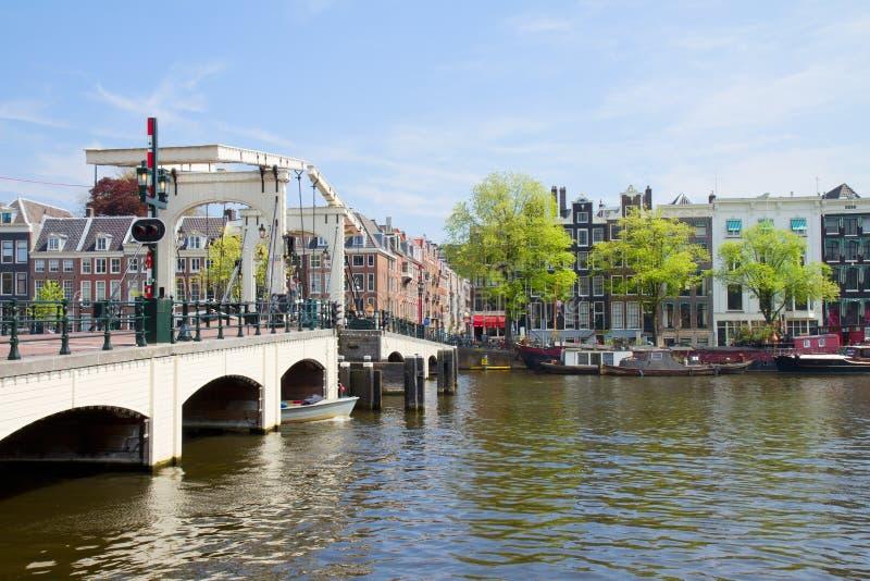 Ponte di Magere di Amsterdam immagine stock