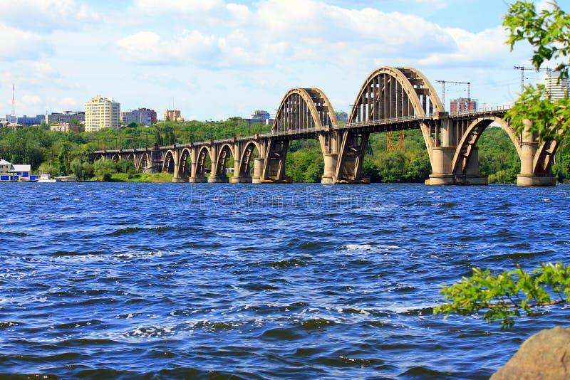 Ponte di Merefo-Cherson in Dnipropetrovsk l'ucraina immagine stock libera da diritti