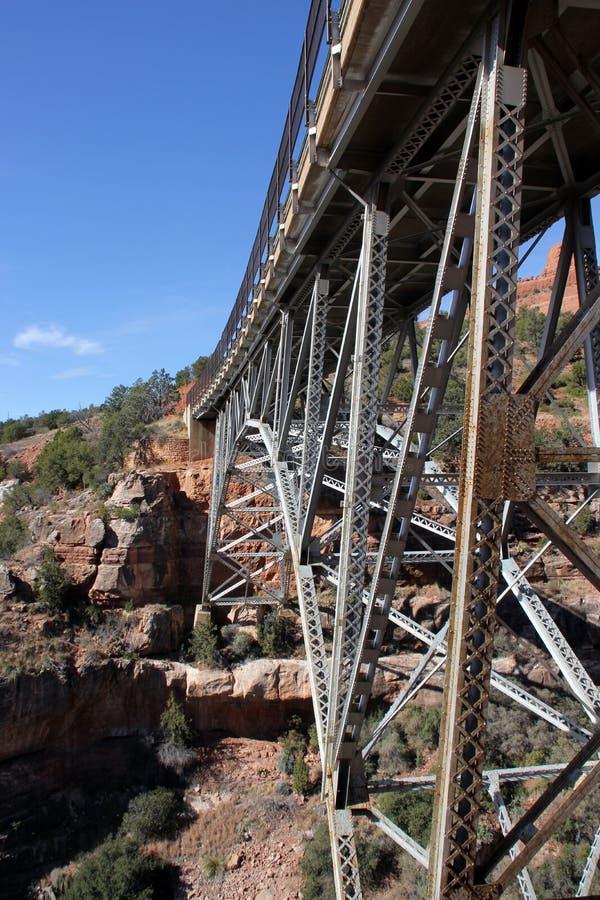 Ponte di Midgley sopra l'insenatura della quercia, Sedona, Arizona fotografia stock libera da diritti