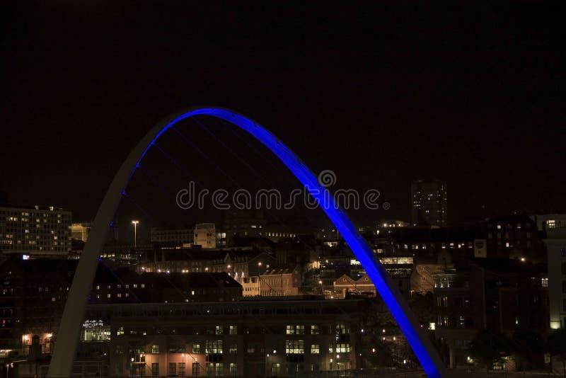 Ponte di millennio di Gateshead Newcastle su Tyne immagine stock