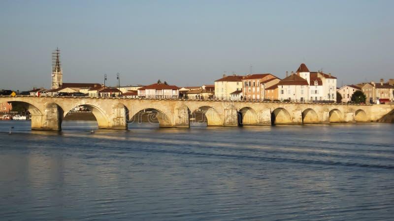 Ponte di Oldd a Macon fotografie stock libere da diritti