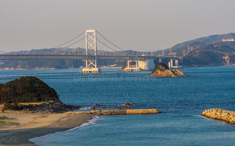 Ponte di Onaruto da Tokushima fotografia stock libera da diritti