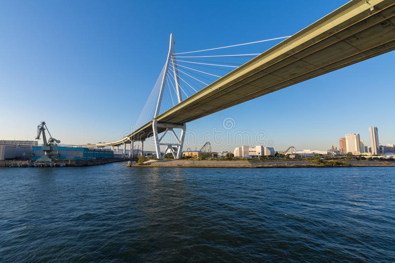 Ponte di Osaka fotografia stock