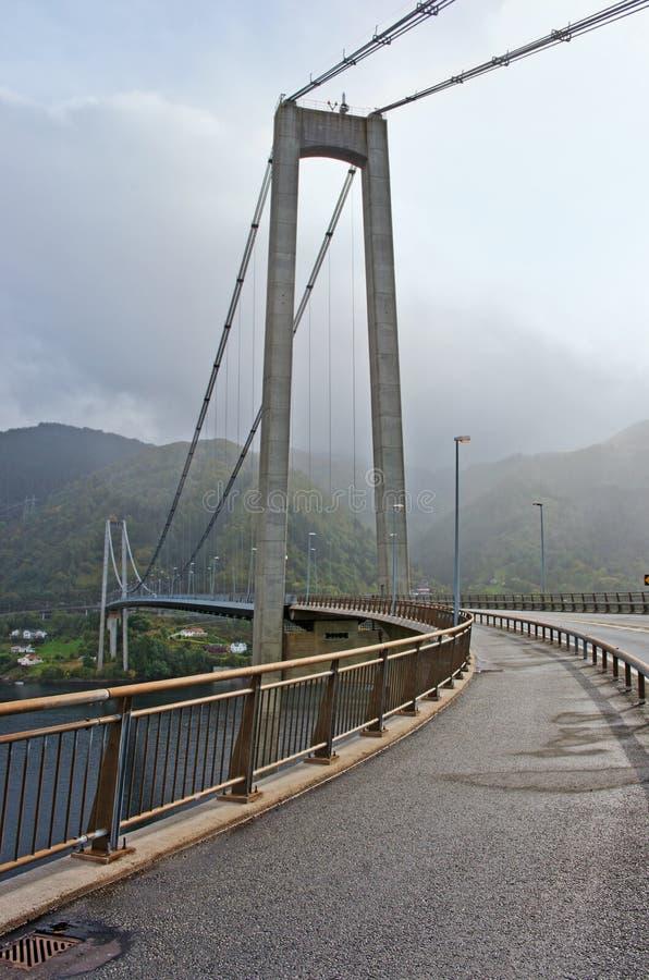 Ponte di Osteroy in Norvegia immagini stock libere da diritti