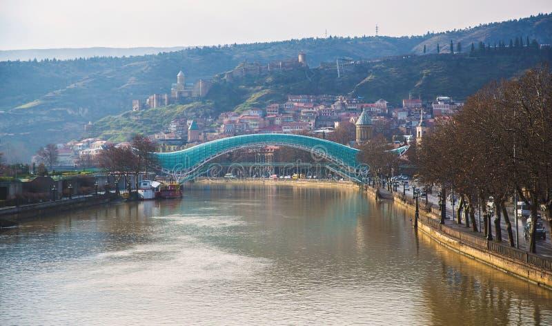 Ponte di pace a Tbilisi immagine stock