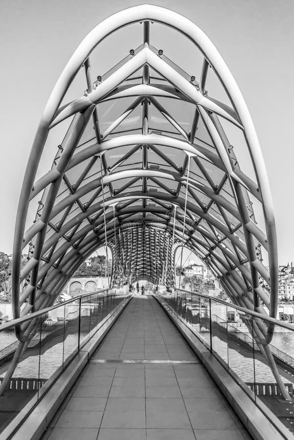 Ponte di pace, Tbilisi, Georgia fotografia stock libera da diritti