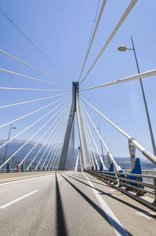 Ponte di Patrasso immagini stock libere da diritti