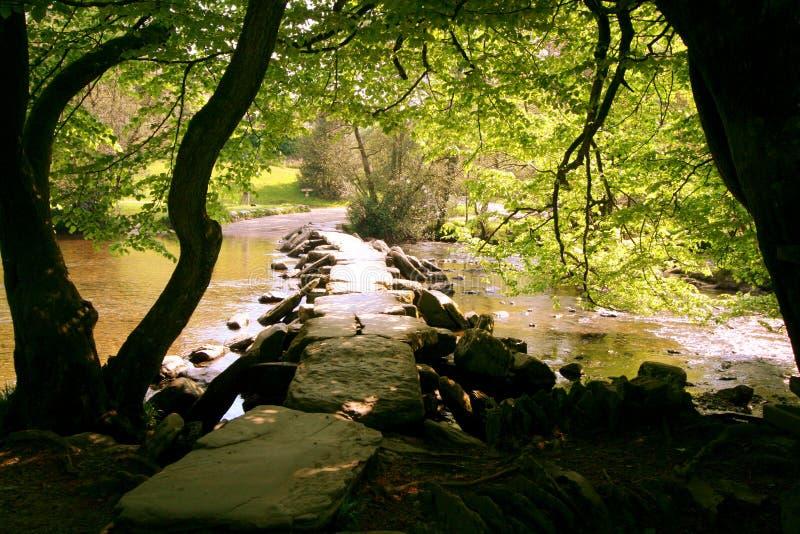 Ponte di pietra preistorico della valvola fotografia stock libera da diritti