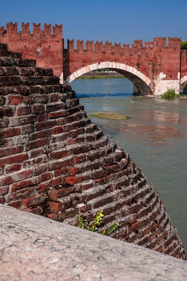Ponte Di Pietra, Verona Italy - obraz stock