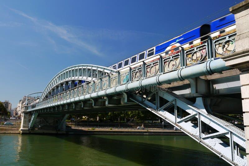 Ponte di Pont Rouelle, Parigi, Francia. fotografie stock
