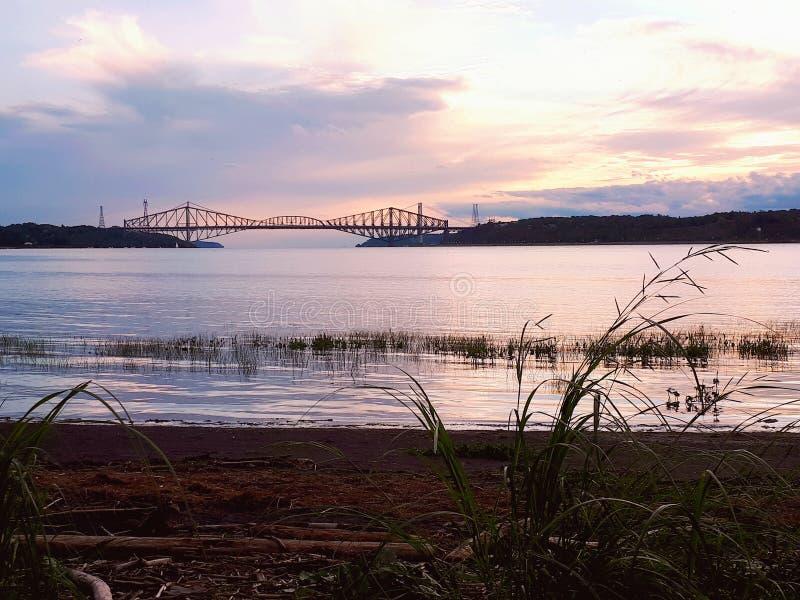 Ponte di Québec fotografie stock libere da diritti