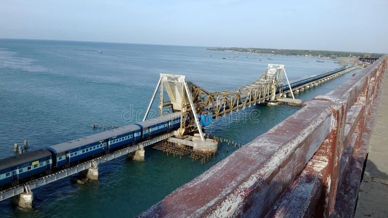 Ponte di Rameshwaram fotografie stock