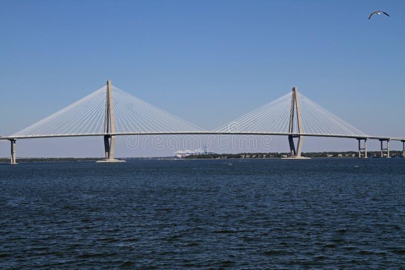 Ponte di Ravenel a Charleston, Sc immagine stock