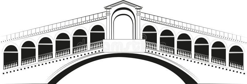 Ponte di Rialto ilustración del vector