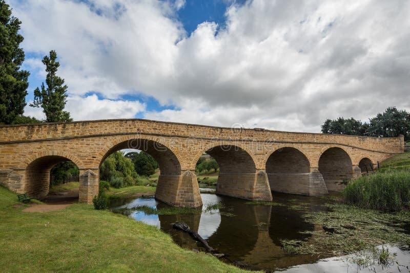 Ponte di Richmond in Richmond Tasmania fotografie stock