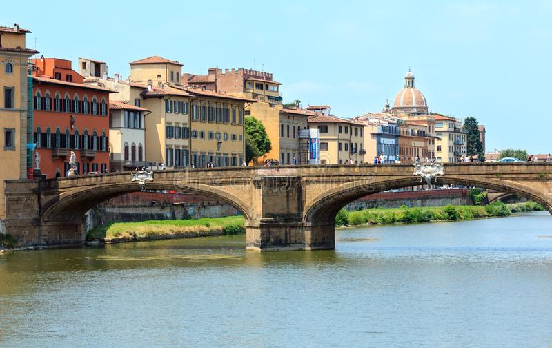 Ponte di Ponte Santa Trinita, Firenze, Toscana, Italia immagine stock