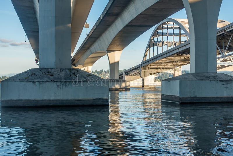 Ponte di Seattle fotografia stock libera da diritti