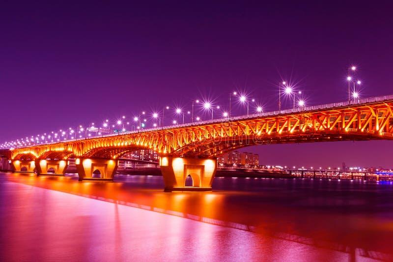 Ponte di Seongsu a Seoul, immagini stock libere da diritti