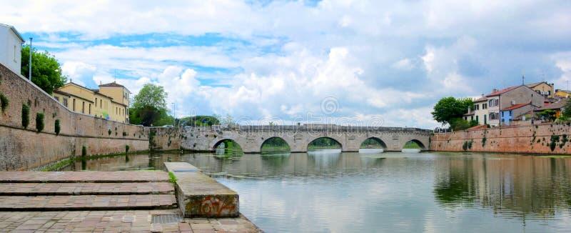 Ponte di Tiberio (里米尼) 免版税库存图片