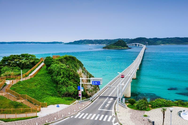 Ponte di Tsunoshima nel Giappone fotografia stock libera da diritti