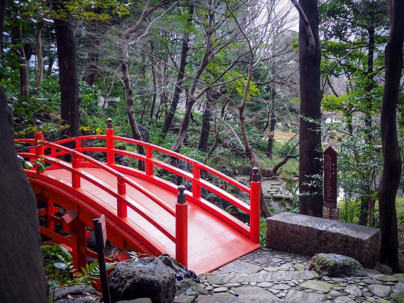 Ponte di Tsutenkyo nel Koishikawa Korakuen immagine stock libera da diritti