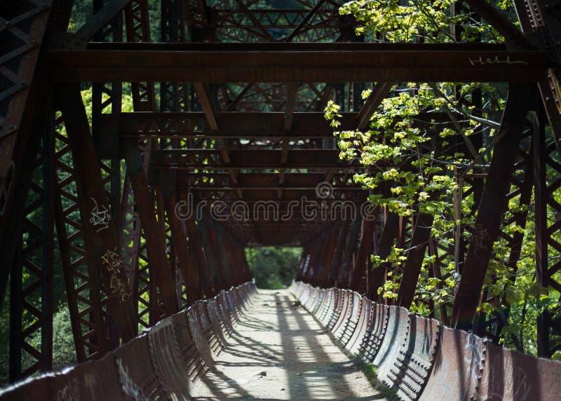 Ponte di Tumwater vicino a Leavenworth, WA fotografie stock