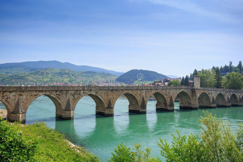 Ponte di Visegrad, Bosnia-Erzegovina immagine stock libera da diritti