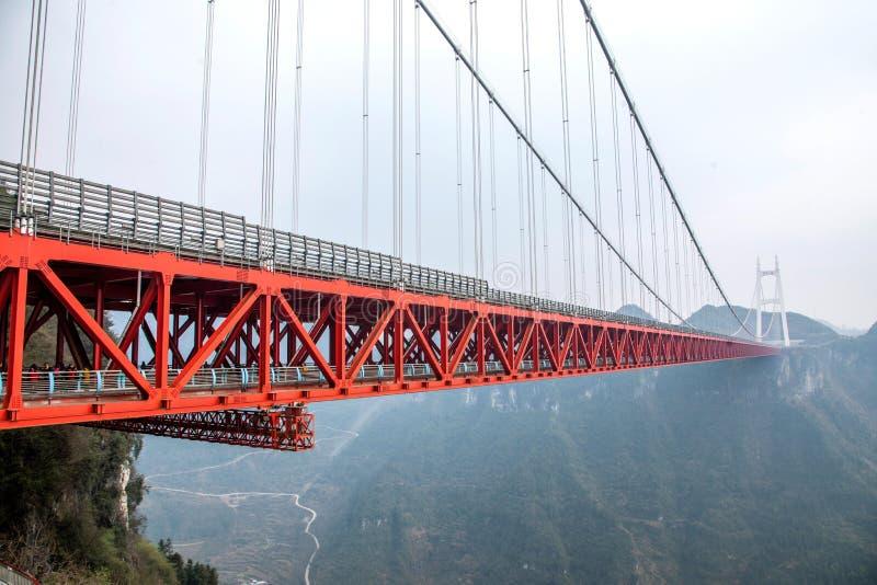Ponte di xiangxi aizhai del hunan immagine stock for Piani di fondazione del ponte