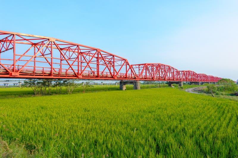 Ponte di Xiluo in Yunlin, Taiwan fotografia stock libera da diritti