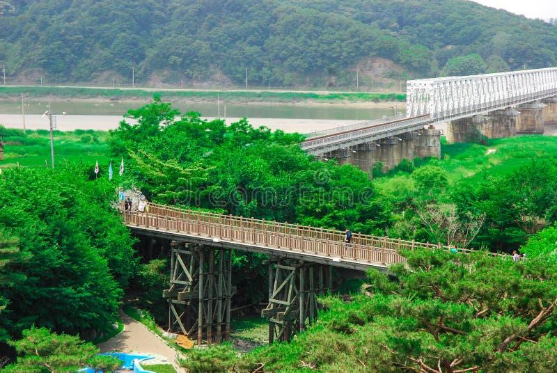 Ponte DMZ, Corea di libertà. immagine stock libera da diritti