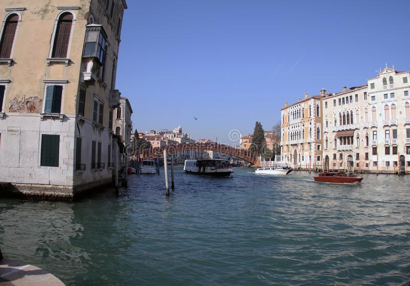 A ponte do accademia do dell de Ponte em Veneza 2019 imagem de stock royalty free