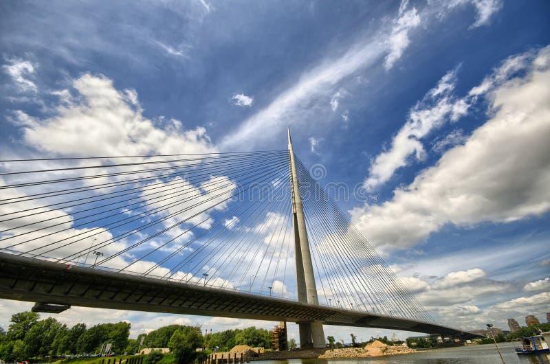 Ponte do Ada Ciganlija foto de stock