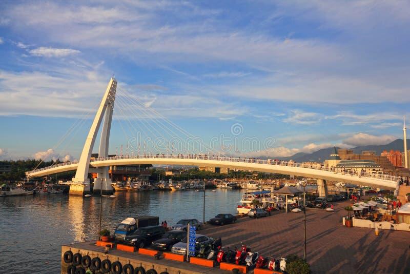 Ponte do amante, em Taipei, Formosa foto de stock royalty free