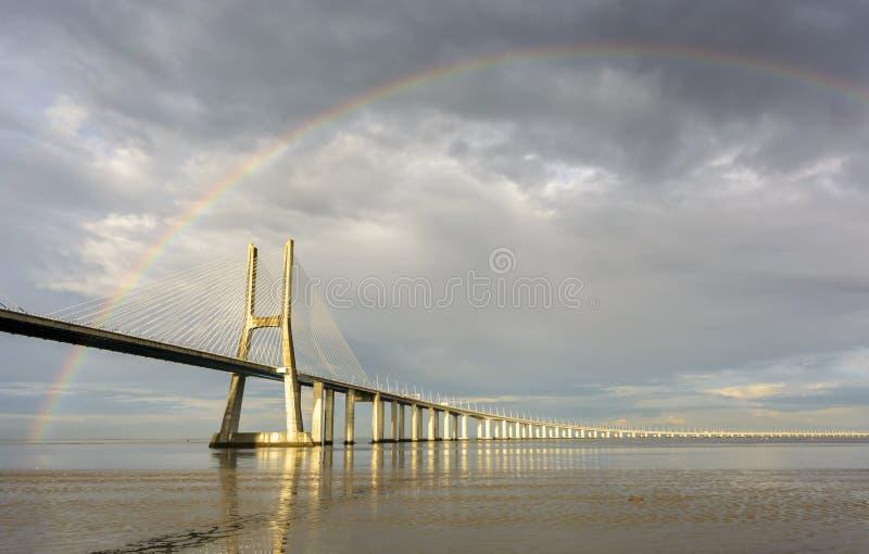 Ponte do arco-íris fotos de stock royalty free