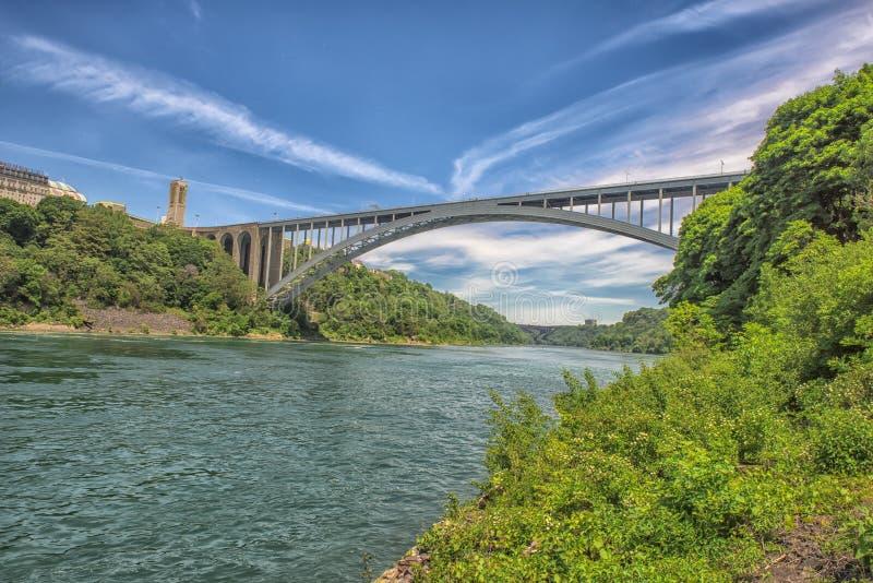 Ponte do arco-íris de Niagara Falls imagem de stock