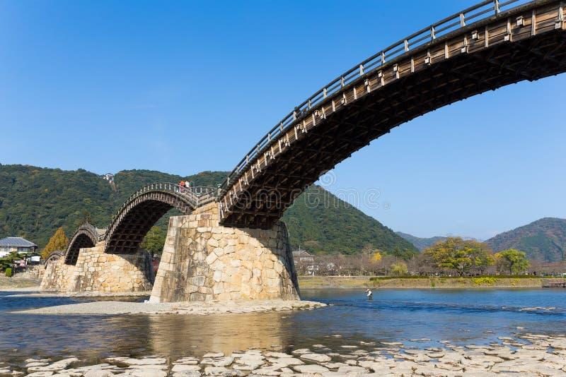 Ponte do arco de Kintai imagens de stock