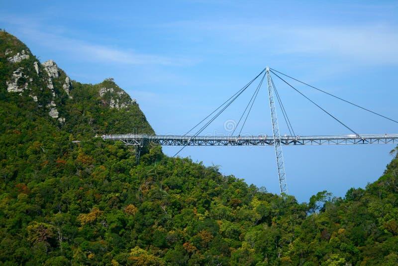 Ponte do céu de Langkawi imagens de stock royalty free