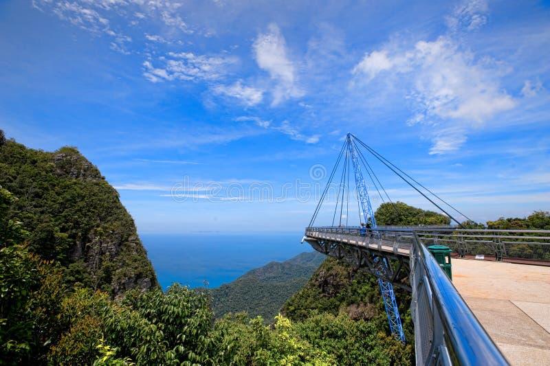 Ponte do céu de Langkawi foto de stock